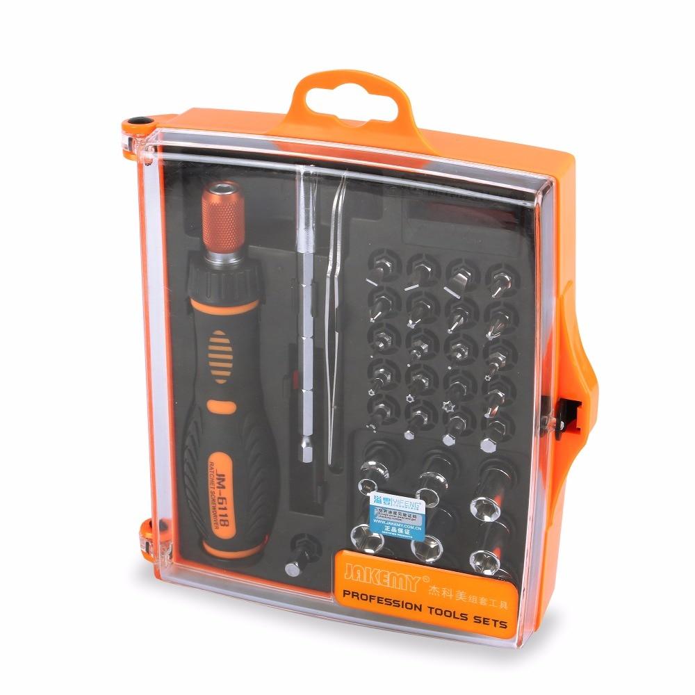 JAKEMY 33 in 1 Multi Tool Set Hand Tools Repair Tool Kit Precision Screwdriver Set Tool Box For Cell Phones Laptop Tablet PC HTC сковорода rondell geste rda 108 20 см
