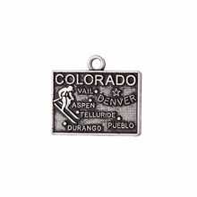 my shape 30pcs Colorado America State Map Charm Antique Pendant Diy Handmade Jewelry Making 19*17mm(China)