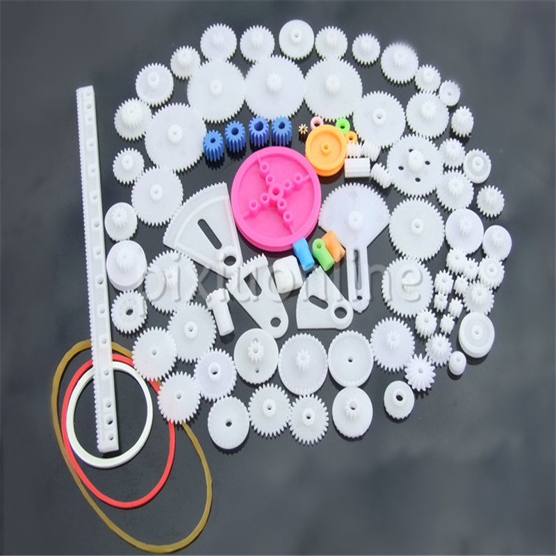 85pcs K841 85 Plastic Gears Pack without repetition DIY Technology Model Making Free Shipping Russia