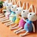 Envío libre al por mayor 12 cm longitud 6 unids/lote 6 colores mezclados encantadores del conejo juguetes de peluche de la boda Promocional accesorios para teléfonos regalo