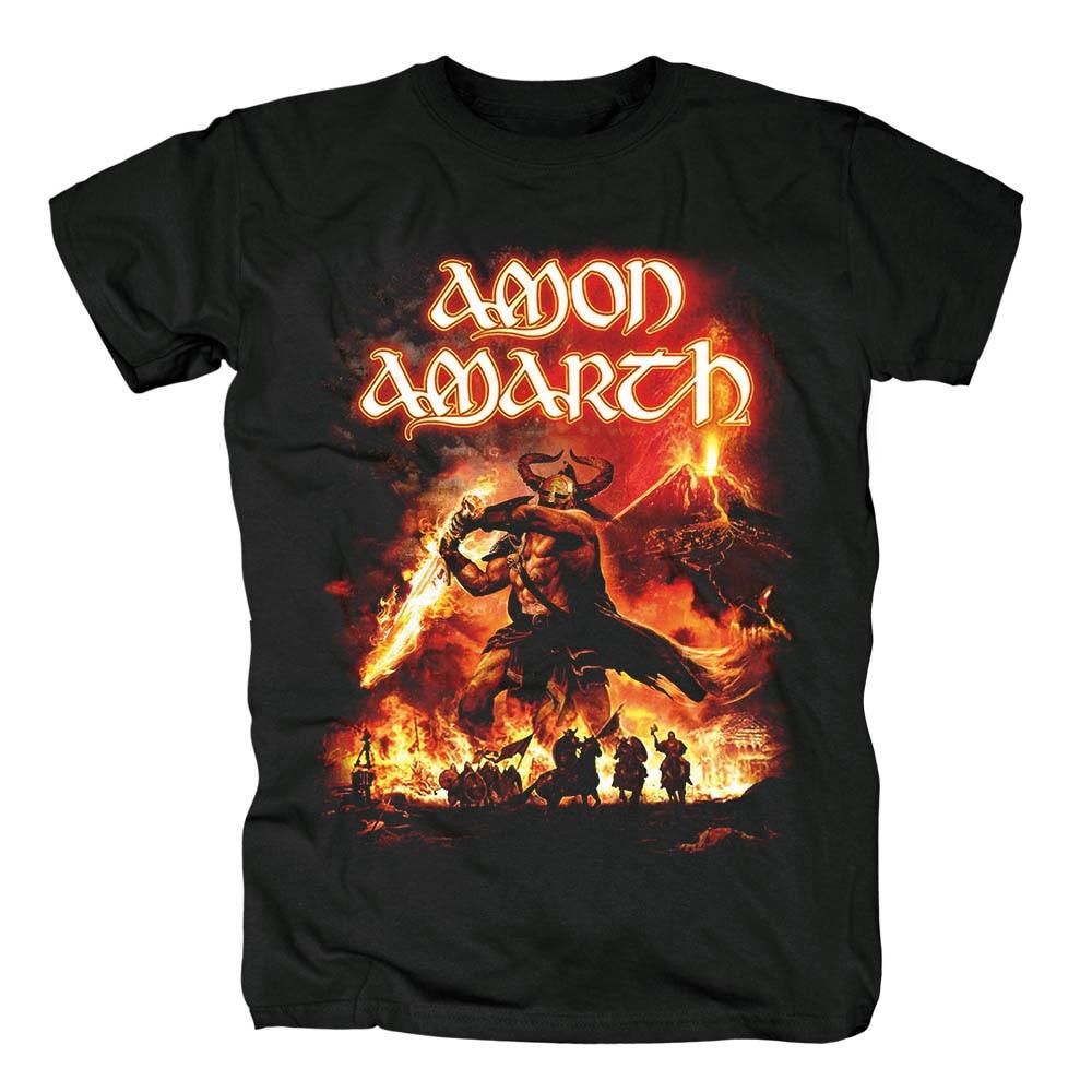 Bloodhoof Amon Amarth Surtur Rising album cover Melodic Death Metalmen's black T Shirt Asian Size