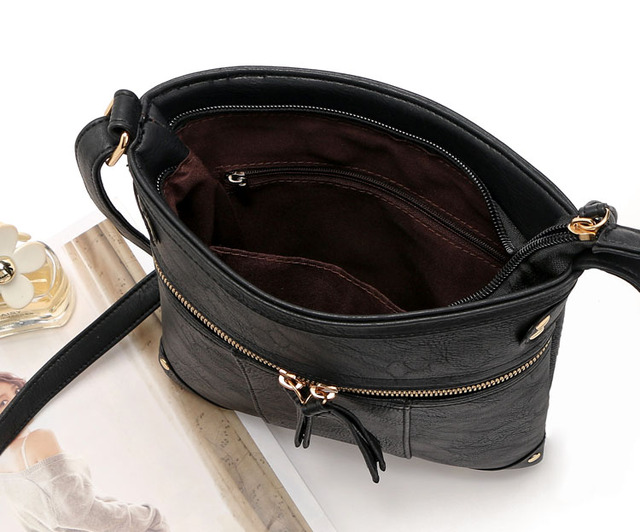 2017 Fashion Designer Women Messenger Bags PU Leather Small Crossbody Shoulder Bags Women Black Bolsos Casual Bag Dollar Price