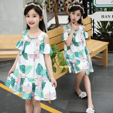 85573ba7f5 Girls Dress Summer Fashion Children Clothing Baby Girls Flower Princess  Dresses Kids 4 6 8 10 12 Years Old Clothes-in Dresses from Mother & Kids on  ...