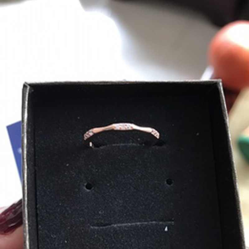 Tisonliz Dainty น่ารักแหวน CZ หมั้นแต่งงานหญิงแหวนสำหรับ Ladys Charm เครื่องประดับ Anillos ขายส่ง