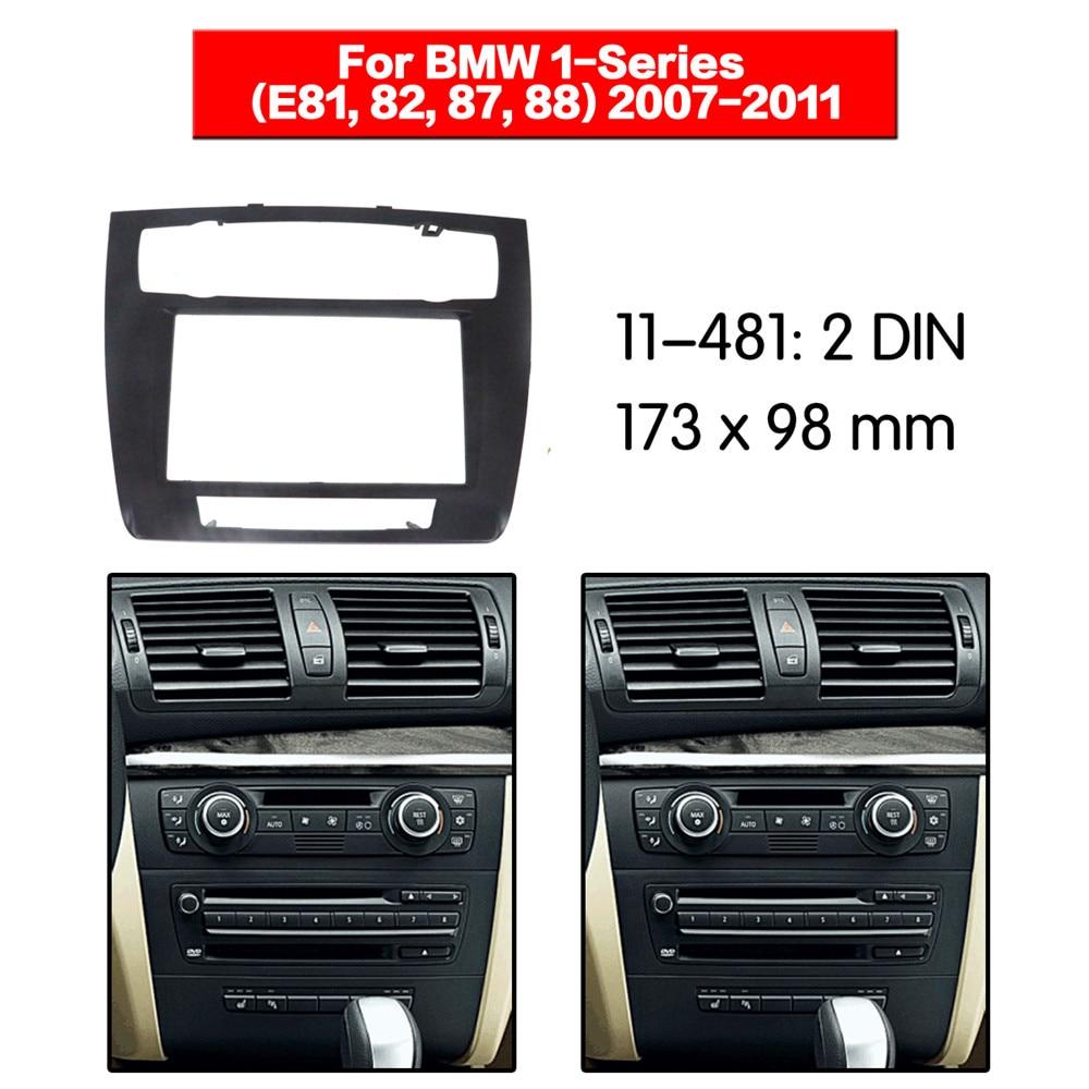 Panel de CD de coche 11-481 Dash para BMW 1 Series E81 E82 E87 E88 (aire acondicionado automático) Instalación de embellecedor de CD estéreo Fascia Dash 2din