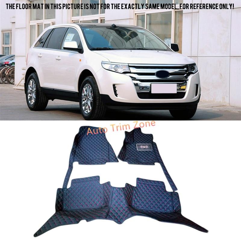 все цены на New Black Interior Leather Floor Mat & Carpet For Ford Edge 2011-2014 онлайн