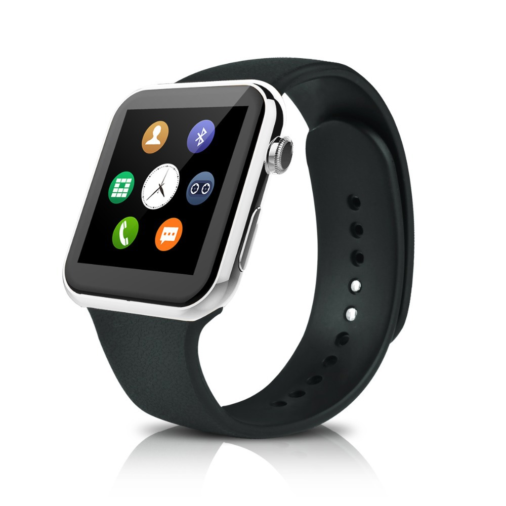 2015 New font b Smartwatch b font A9 Bluetooth Smart watch for Apple iPhone Samsung Android