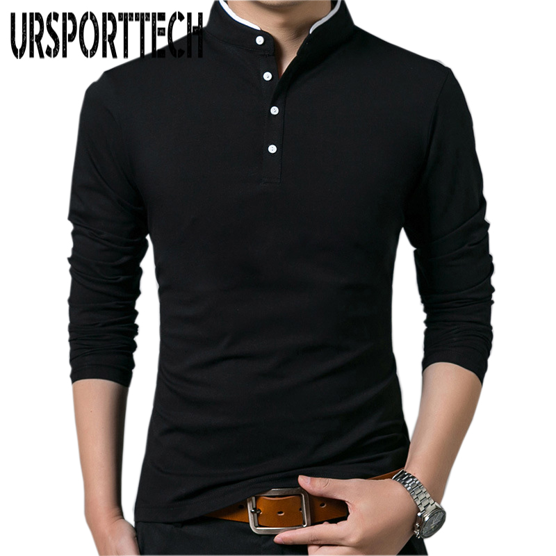 Brand New Men   Polo   Shirt Mens Long Sleeve Solid   Polo   Shirts Camisa   Polos   Masculina Popular Casual Cotton Plus Size M-4XL Tops