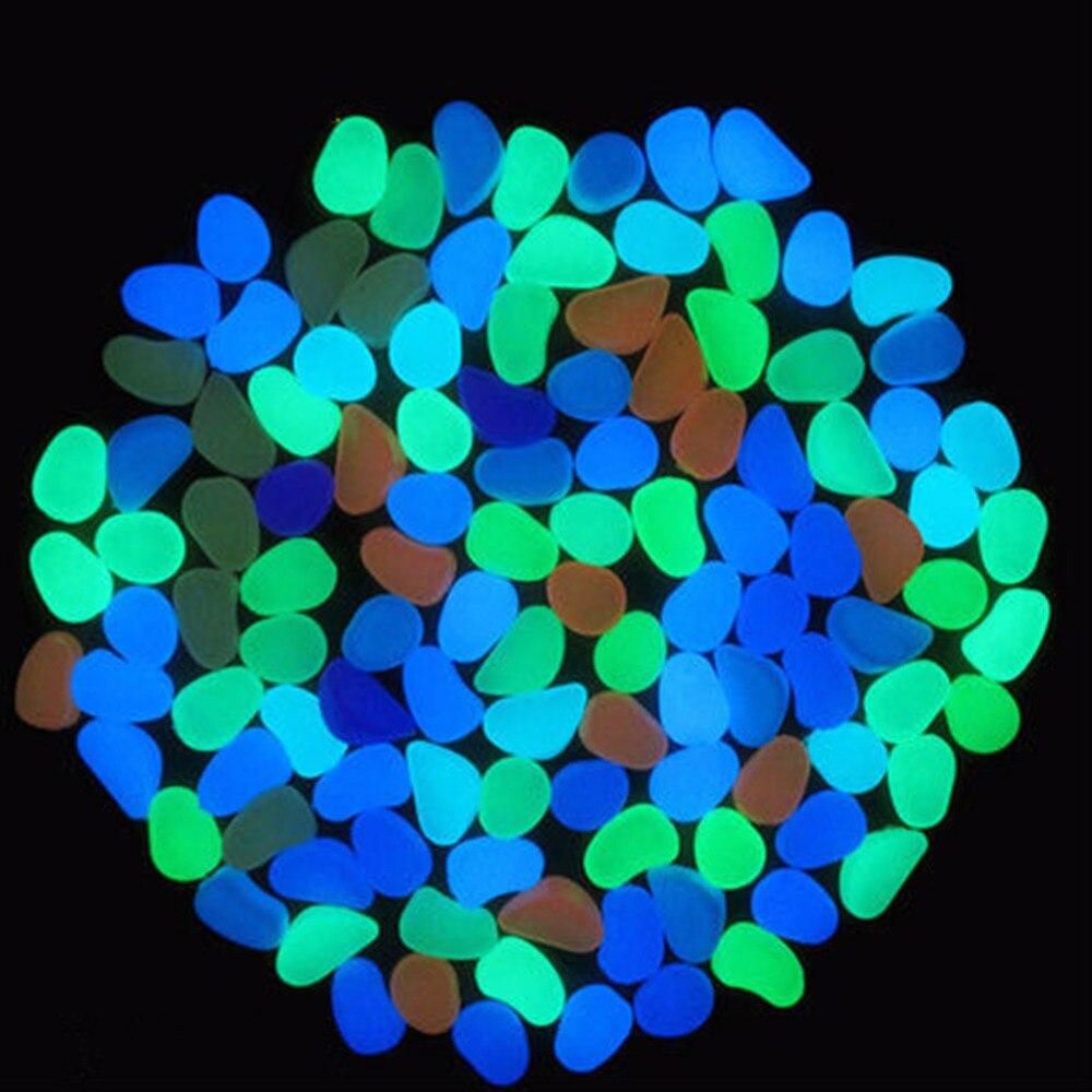 Nicrew 10Pcs Nice Glow In The Dark Pebbles Artificial Luminous Stone Walkway Aquarium Accessories Fish Tank Decor Free Shipping