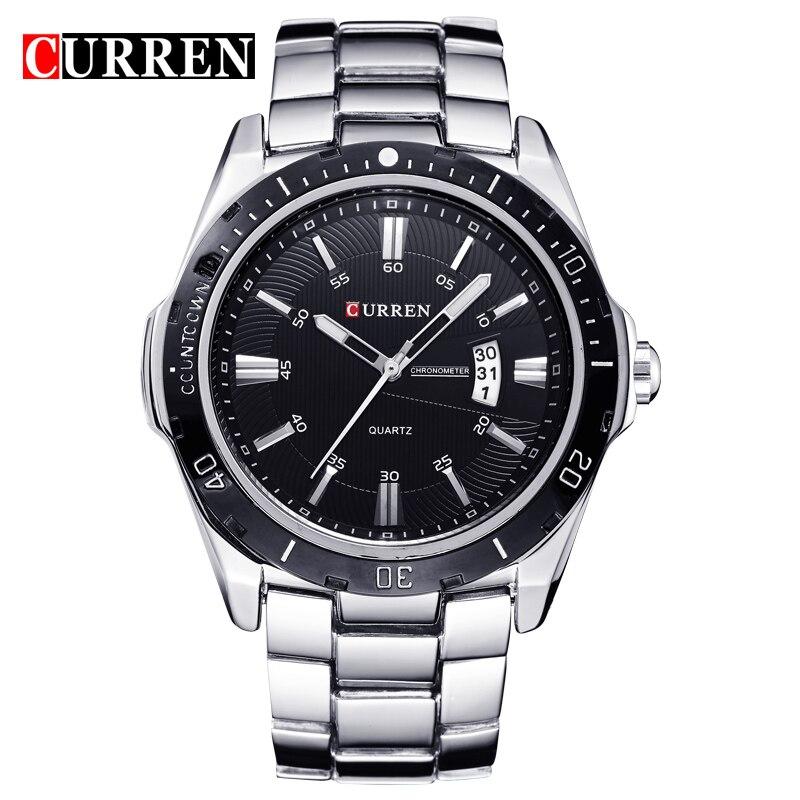 ab00c7cb155 CURREN Quartz Military Watch Men Auto Date Wristwatch Mens Watches  Stainless Steel Calendar Man Clock Relogio Masculino 8110