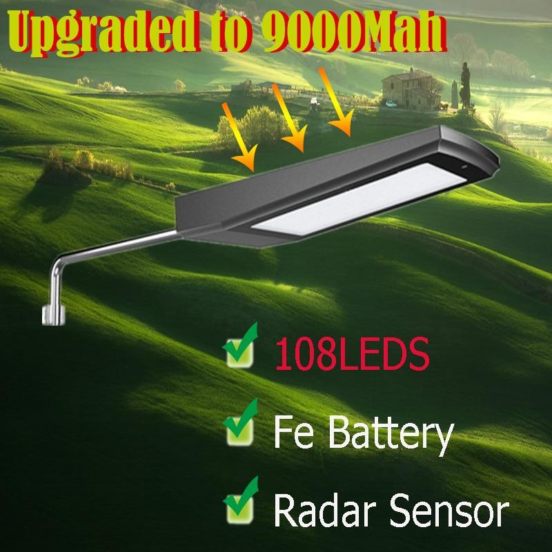 Longue LED Solaire lumière Parfait qualité LED Solaire éclairage Extérieur Bonne conversion panneau solaire Haute luminosité led solaire rue lumière