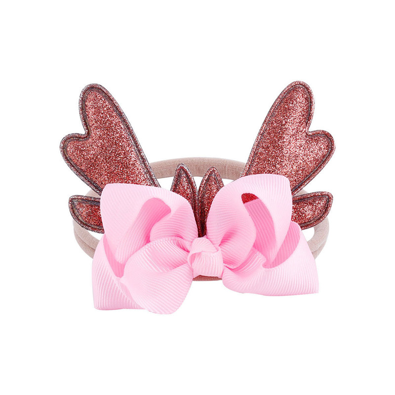 Fashion Christmas Infant Baby Antlers Headband Hair Band Dance Ballet 6 Colors New Colorful Hair Band Girl Bow Knot