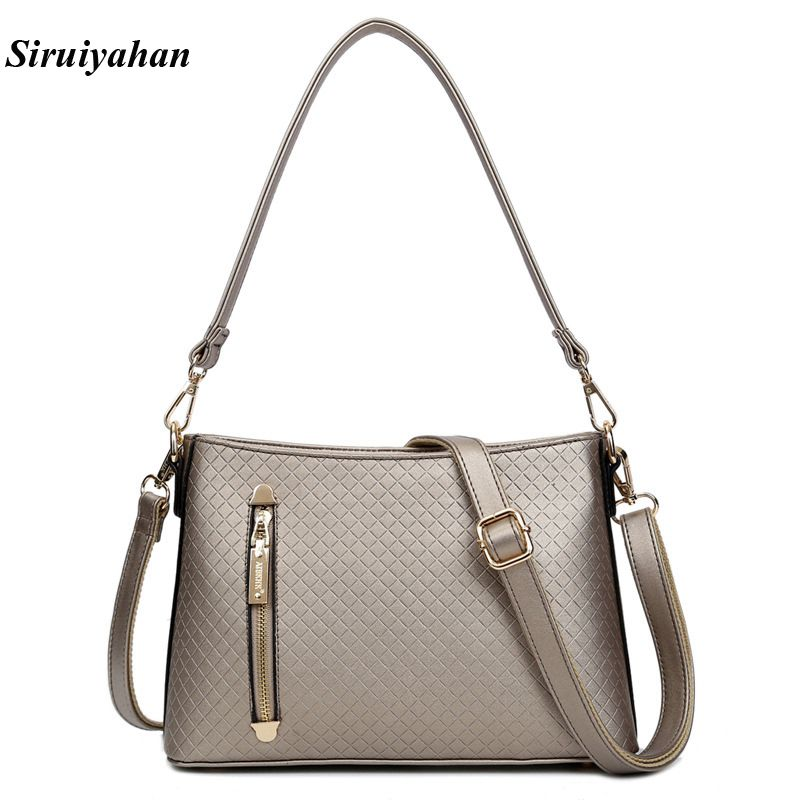 Siruiyahan Genuine Leather Bag Female Bags Handbags Women Famous Brands Shoulder Bags Women Bag Female Bolsa Feminina ludesnoble woman bags 2016 bag handbag fashion handbags summer genuine leather bag female shoulder bags women bolsa feminina