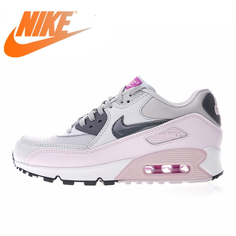 12adecbc Оригинальный Nike Оригинальные кроссовки Air Max 90 для женщин бег обувь  Спорт на открытом воздухе дышащие спортивная дизайнерская Спортивная ..