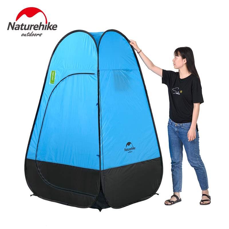 Naturehike camping tent Quick Automatic Opening Washing Toilet Tent Fishing Restroom Portable Outdoor Tent Mobile bathroom brand 24l portable mobile toilet potty seat car loo caravan commode for camping hiking outdoor portable camping toilet