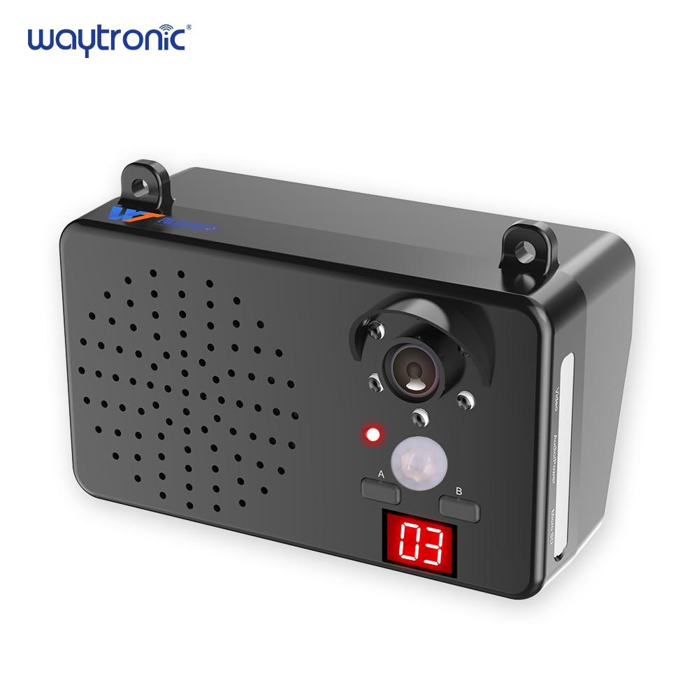 Impermeável ao ar livre PIR Sensor de Movimento Ativado Por Voz Gravável Falante Lembrete De Segurança com Monitoramento De Vídeo de Gravação Da Câmera
