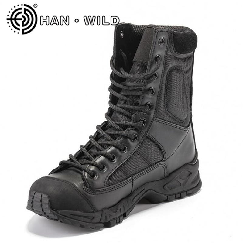 Unisexe travail chaussures CQB bottes aéroportées pour femmes armée bottines femme militaire cuir bottes femmes tactique désert Combat bateaux