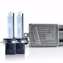 55Вт HID Xenon комплект H7 H3 H1 H4 H11 AC устройство быстрого запуска 9005 9012 D2H Автомобильный свет фар фары 5800 K высокая яркость лампы