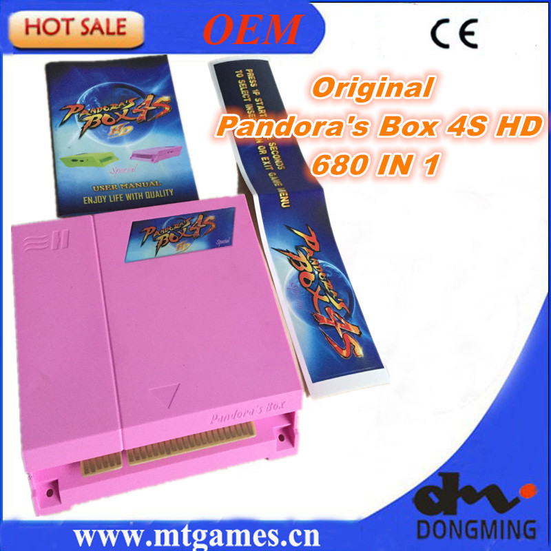Free Shipping Original Pandora Box 4S 680 in 1 jamma Arcade Multi game board game cartridge support CRT,VGA and HDMI output 815 in 1 original pandora box 4s plus arcade game cartridge jamma multi game board with vga and hdmi output