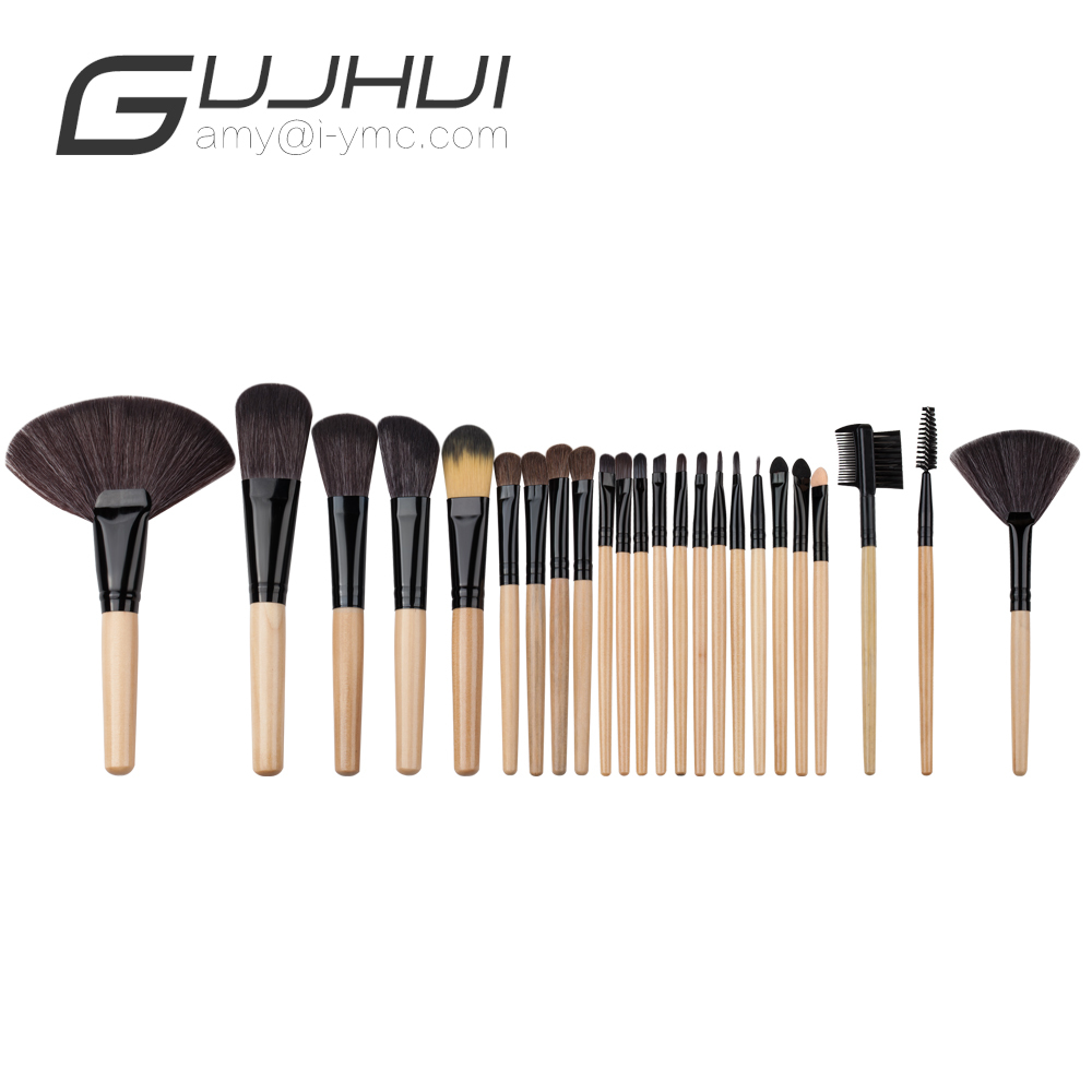 24PCS  Mini Wood Handle Powder Make Up Foundation Eyebrow Eyeliner Blush Cosmetic Concealer Brushes for Girl women 2017 new 24pcs mini make up foundation eyebrow eyeliner blush cosmetic concealer brushes beauty drop shipping sep25