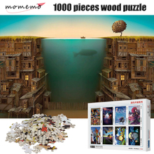 MOMEMO Fishing 1000 Pieces Puzzle Wooden 2mm Thick Jigsaw Puzzles Educational Toys Children Adult Assembling Puzzles Toys Gifts momemo the ancient maps 1000 pieces wooden puzzle 2mm thick jigsaw puzzles adult assembling 1000 pieces jigsaw puzzle toys