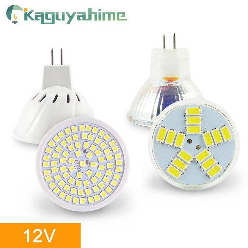 Kaguyahime MR16 LED 12 V MR11 proyector 220 V 6 W SMD 2835 bombilla LED Lampada punto de luz de la decoración de la ampolla blanco cálido blanco frío Lámpara LED de noche con Sensor de movimiento PIR, lámpara LED de noche, lámpara de techo para sala de estar