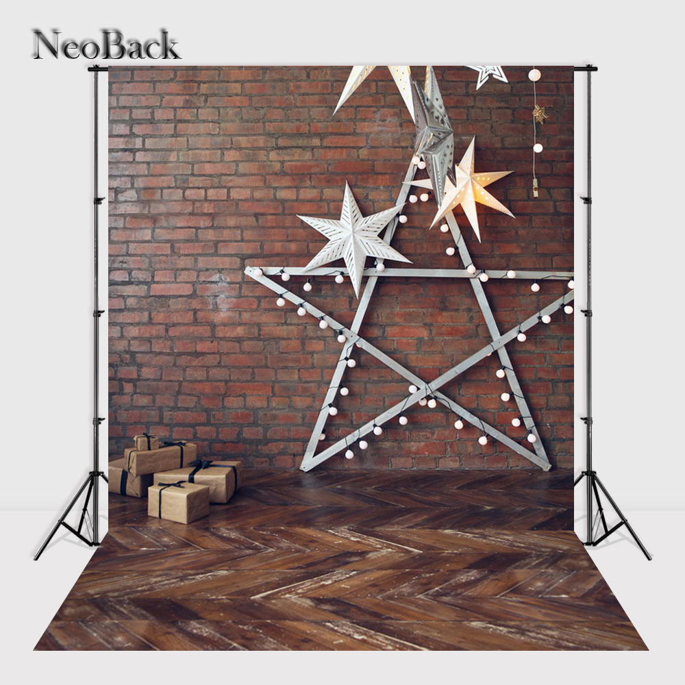 NeoBack    New 5X7ft  baby Christmas gifts backdrop  Printed vinyl fireplace photography background photo studio A1545 allenjoy christmas backdrop tree gift chandelier fireplace cute professional background backdrop for photo studio