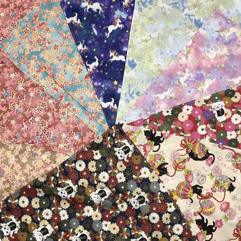 (3 pçs/lote) estilo Japonês Furoshiki lenço/100% algodão estampado 37 cm