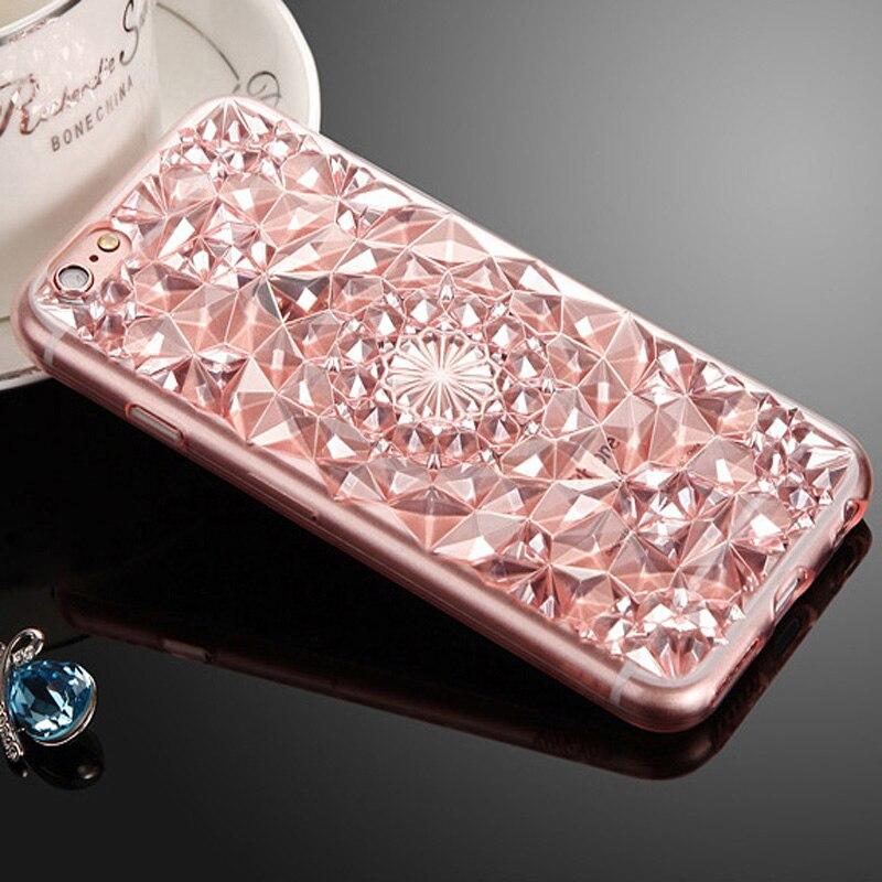Para apple iphone 7 6 6 s 5 5S se plus cajas del teléfono de lujo del diamante 3