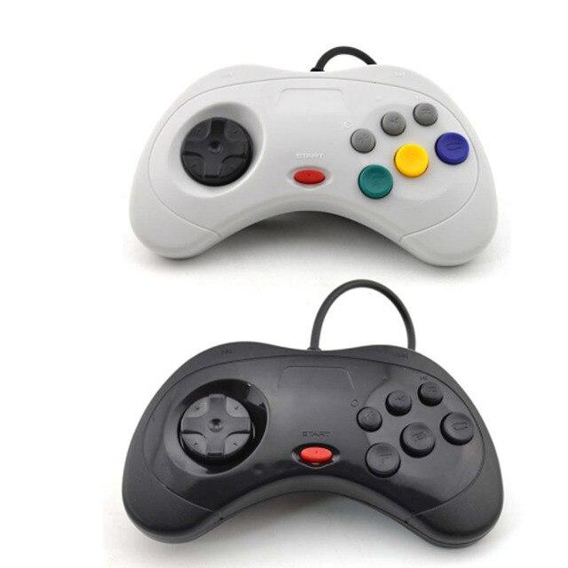 Vigrand 2 Unids Negro Blanco Para Sega Saturno Usb Con Cable Juego