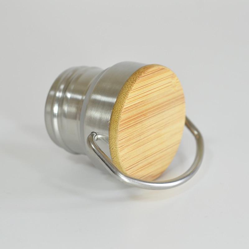Botella de agua de acero inoxidable libre de BPA Tapa de bambú - Cocina, comedor y bar - foto 5