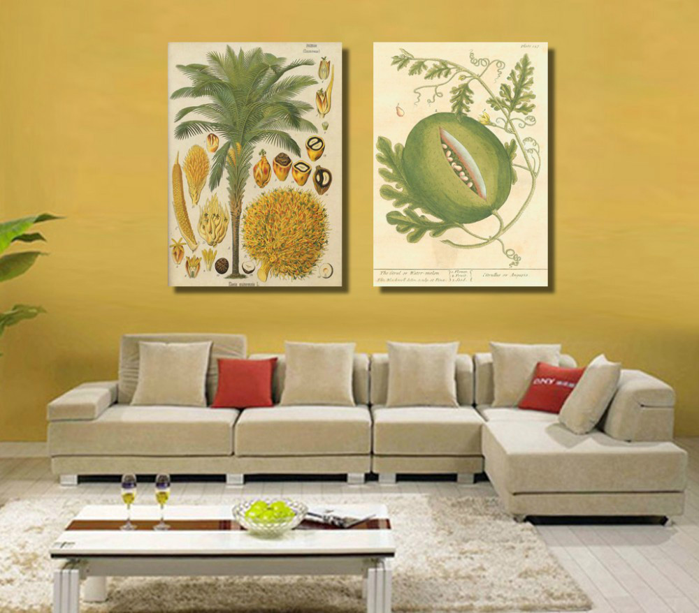 2 Pcs Modern Contemporary Prints Fruits Canvas Painting Fruits Oil ...