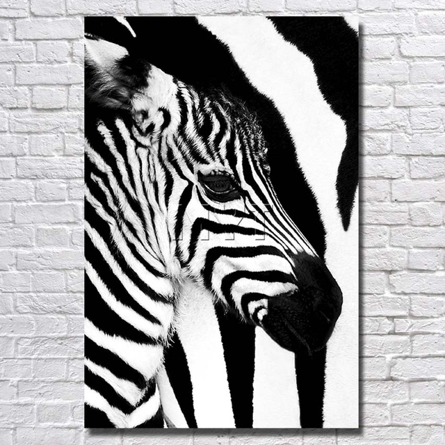 Black And White Zebra Painting Top Quality Modern Abstract Oil ...