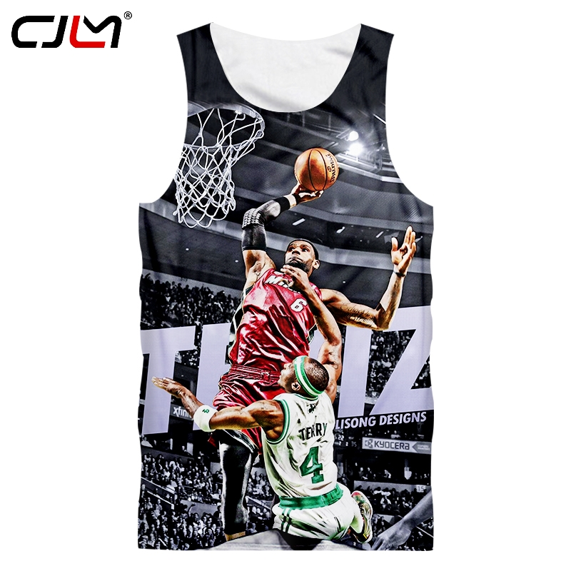 b7858cd059d6 Detail Feedback Questions about CJLM Dropshipping 3d Vest Man Cool Jordan 23  James Fans Printed Tank Top For Men s Fitness Workout Sleeveless Shirts ...