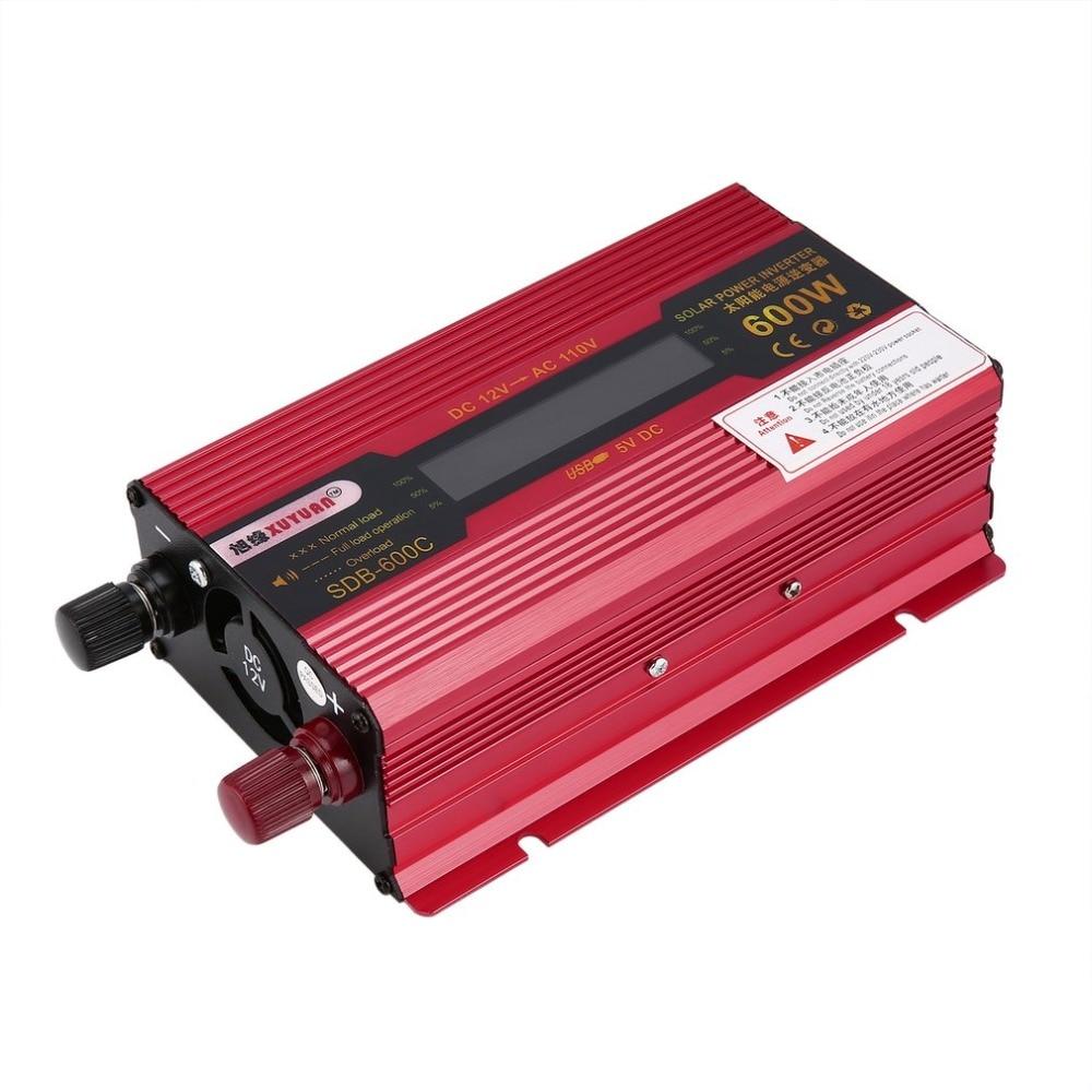 Солнечный Мощность 600 Вт Мощность инвертор DC12V AC110V дома вентилятор охлаждения автомобильный преобразователь для бытовых Приспособления ав...