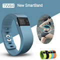 Mais novo Smartband TW64 Rastreador De Fitness Do Bluetooth Esporte Pulseira Banda Inteligente Pulseira Pedômetro Para iPhone IOS Android PK F itbit