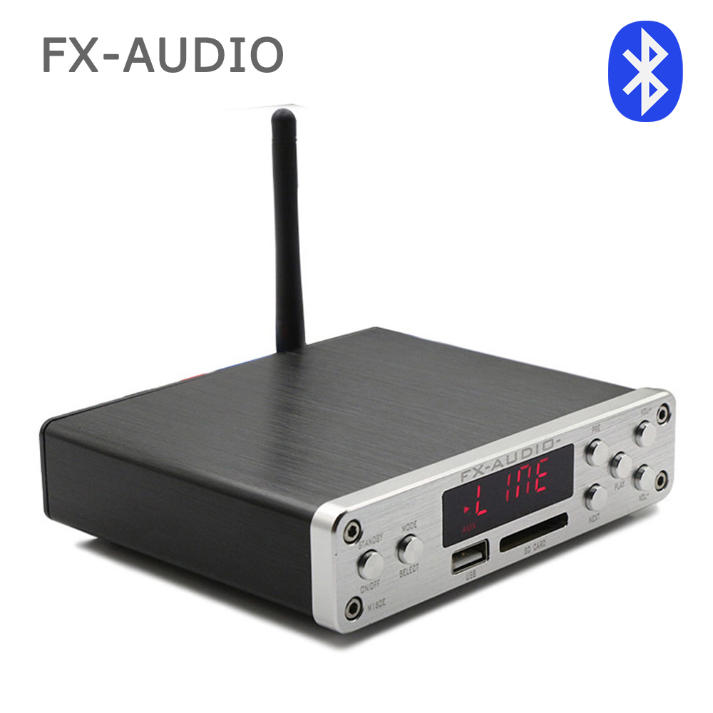FX-Audio M-160E Bluetooth 4.0 Digital Audio Amplifier Input USB/SD/AUX/PC-USB Loseless Player For APE/WMA/WAV/FLAC/MP3 160W*2 hifi amplifier digital bluetooth 4 0 audio amp 160w 160w support u disk sd ape fx m 160e white black