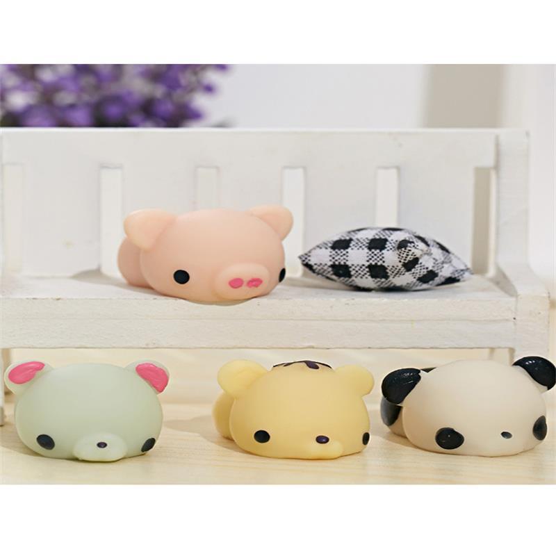 1pc Mini Squeeze Toys Antistress Ball Squishy Pig Panda Slow Rising Doll Stretchy Animal Healing Stress Hand Fidget Vent Toy Fun