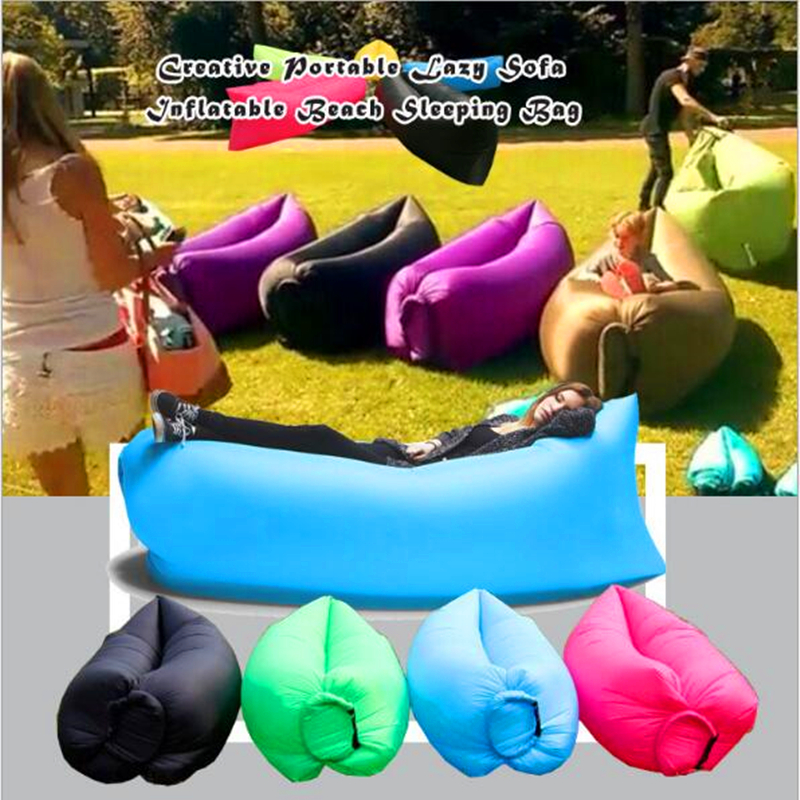 Foldable Gas Lazy Sofa Bed Home Air Furniture Sunshine Lay Beach Blow-Up Chair Park Sleeping Air Bag Equipment Waterproof