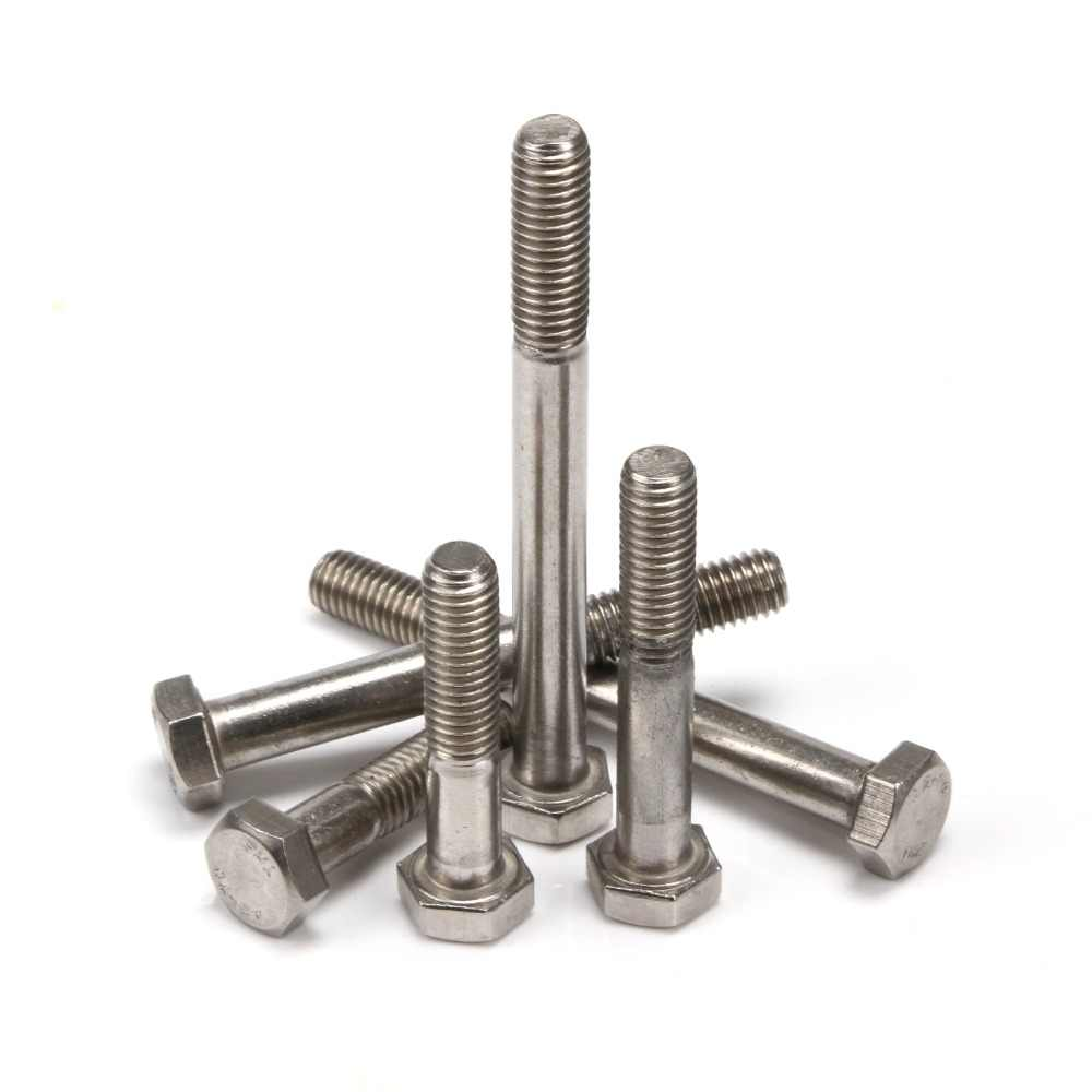 M5 A2 Stainless Steel Hex Head Part Fully Threaded Bolts Screws 8~70mm Length