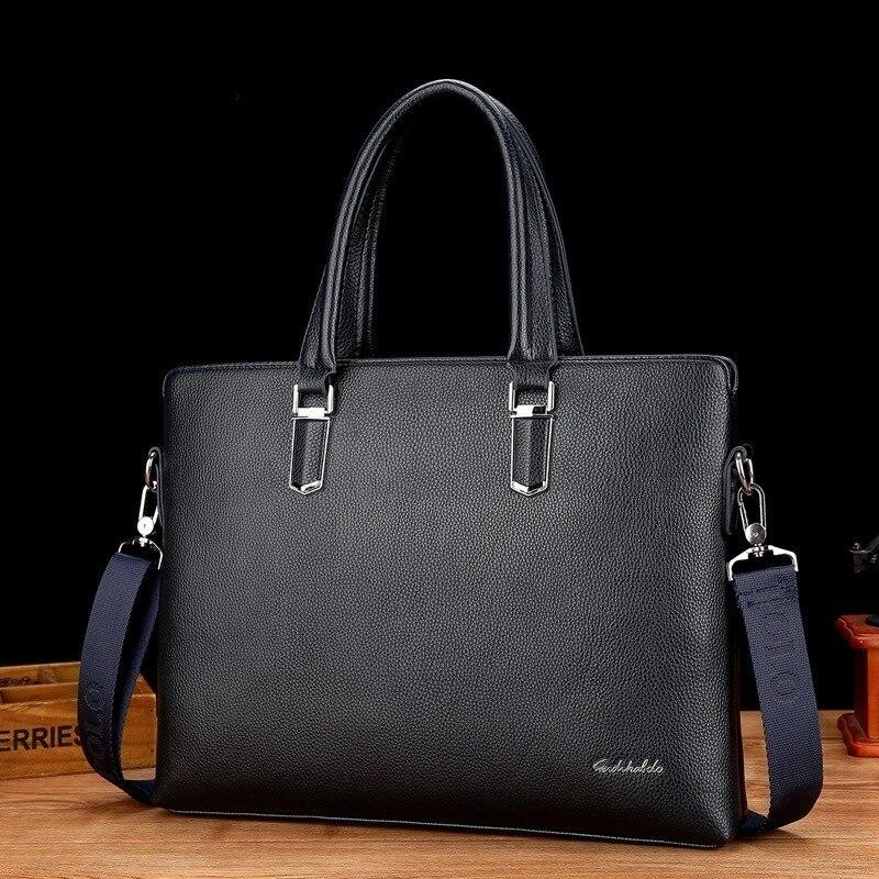 New Fashion Men's Handbag Messenger Bag Designer Luxury Purses Brand Leather Document Trend Pu Leatherwear Package Will Capacity
