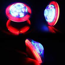 Music Gyro Peg-Top Spinning Top Brinquedo Funny Kids Toy Classic UFO Gyroscope Laser Color Flash LED Light Children's Day Gift(China)