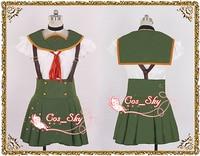 Gakkou Gurashi! School Live! Kurumi Ebisuzawa Girl's Dress Set Cosplay Costume