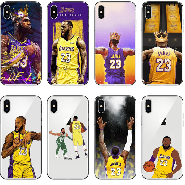 fdd50f6d4d8c Los Angeles lakers Basketball star King LeBron James 23 Soft Silicone Phone Cover  Case For iPhone X 5 5s SE 6 6s Plus 7 8 Plus X