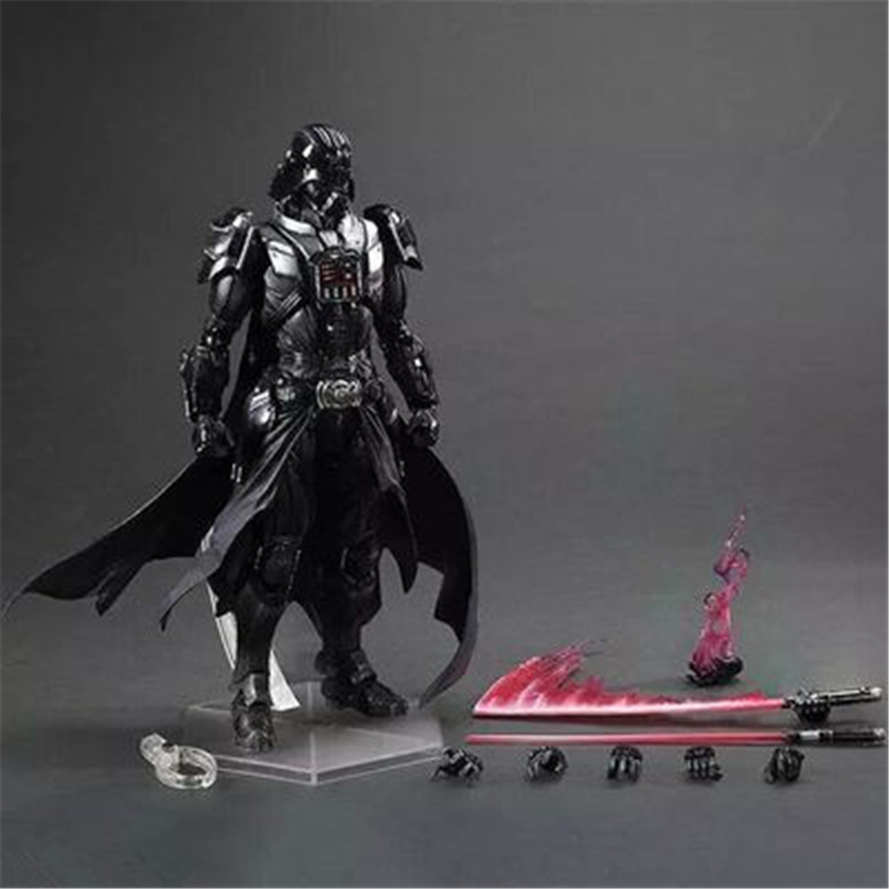 Play Arts PA Star Wars Figure Darth Vader PVC Action Figures Collectible Model Toy 27cm Free Shipping free shipping cute 4 nendoroid luck star izumi konata pvc action figure set model collection toy 27 mnfg032