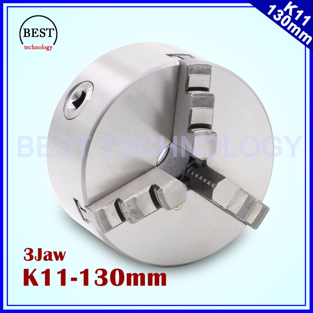 K11 130mm 3 jaw Chuck self-centering manual chuck four jaw for CNC Engraving Milling machine ,CNC  Lathe Machine! 3 3 jaw lathe chuck k11 80 k11 80 80mm manual chuck self centering lathe parts diy metal lathe lathe accessories