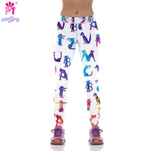 2016 New Brand Capris Leggings High Waist Floral Printing Pants Lady s Fitness Casual Pants Wear