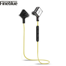 Original Fineblue FA-90 Bluetooth Earphones Wireless Earphone with Report number Magnet Collection Handsfree with box free ship