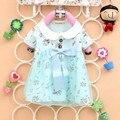 Em venda nova verão 2016 roupas de bebê moda flor de manga curta de algodão do bebê meninas t-shirt A237