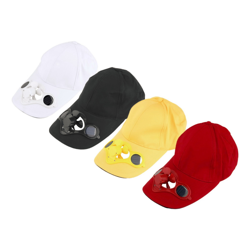Solar Powered Fan Hat Men Women Summer Caps With Solar Sun Power Cool Fan Energy Save No Batteries Required Beach Hats Freeship